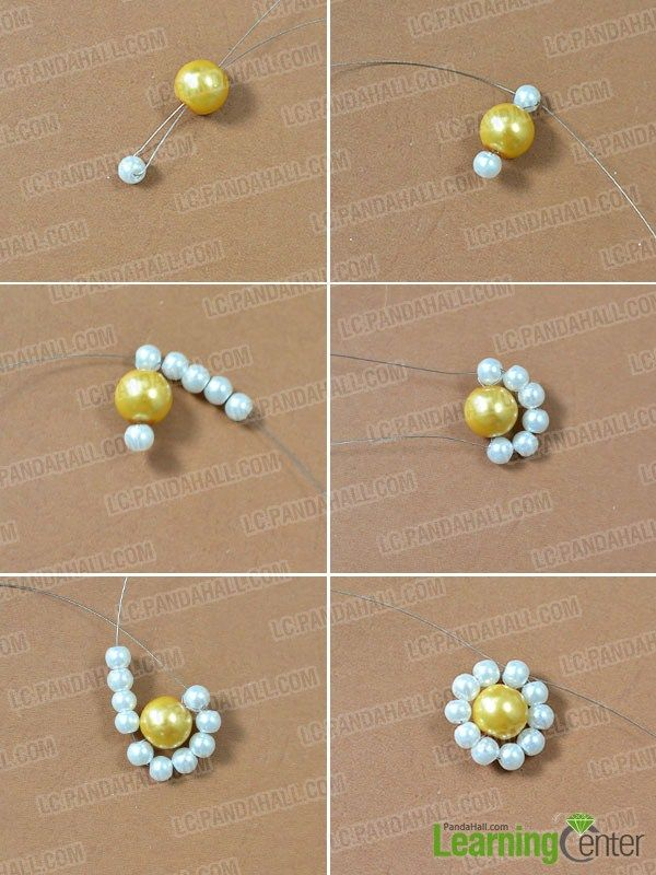 Make The Pearl Flower Pendant Beaded Jewelry Diy Bead Jewellery Pearl Flower Pendant