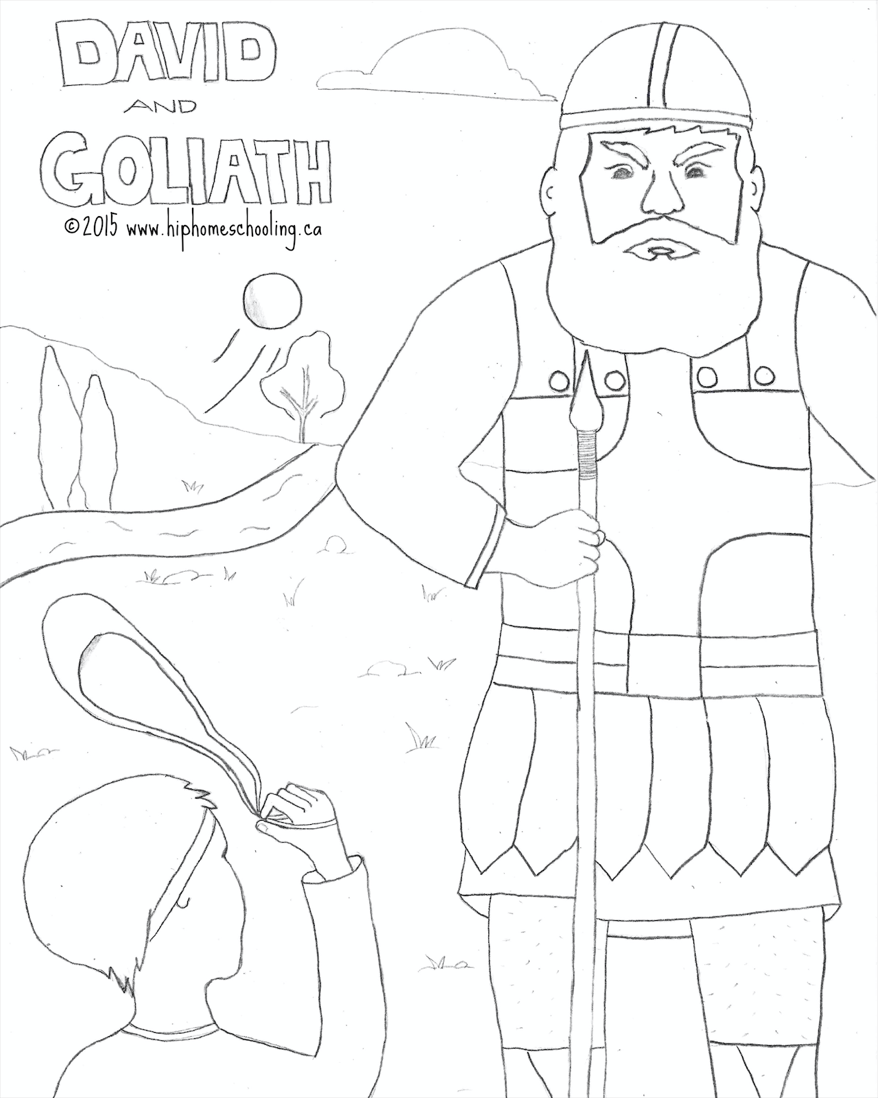 David And Goliath Free Coloring Sheet And Lesson Plan