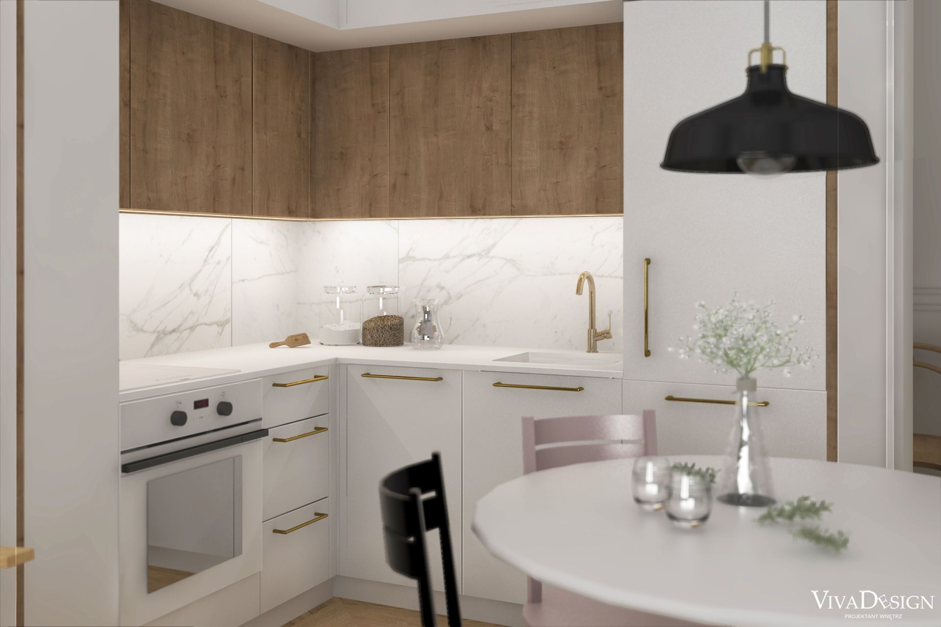 Salon Z Kuchnia W Krakowskiej Kamienicy Home Decor Kitchen Cabinets Furniture