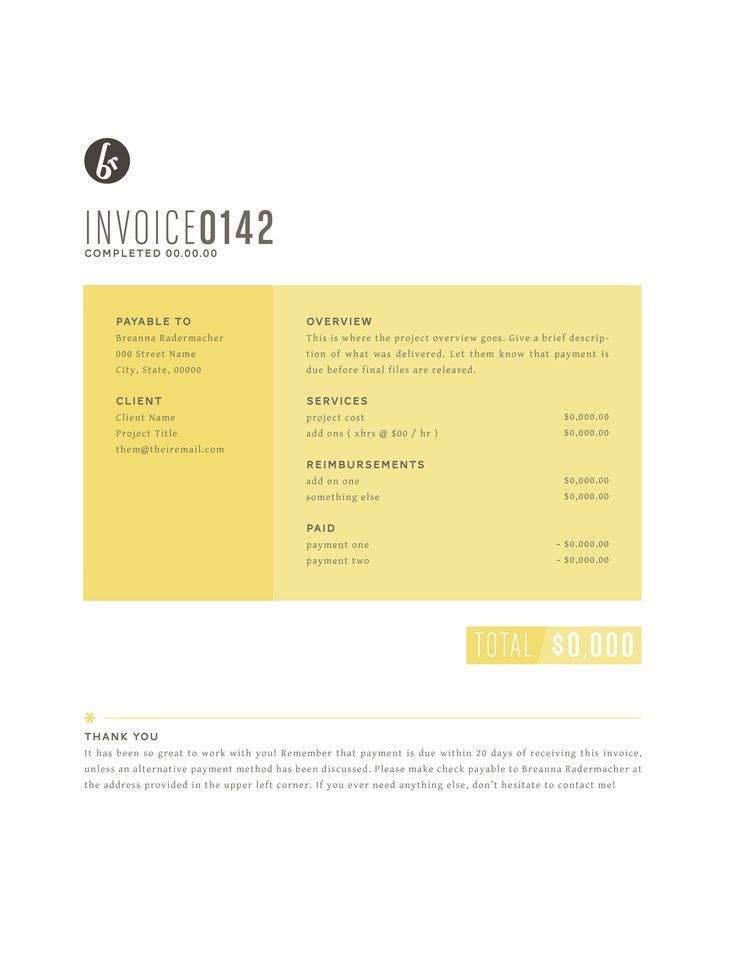 Invoice Design 50 Examples To Inspire You Design layouts - project overview template