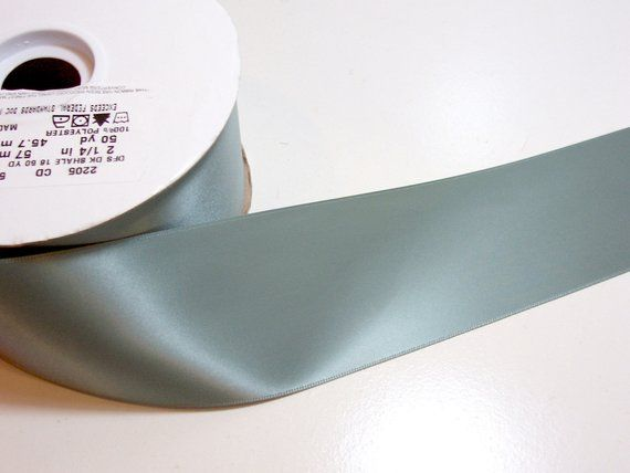 Offray Sage Green Double-Faced Satin Ribbon 7//8 inch wide x 10 yards