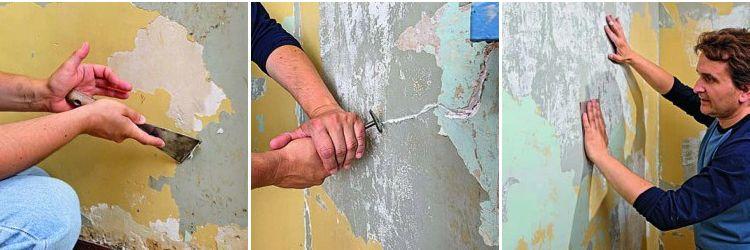 enduire un mur int rieur fissur enduit m r pinterest. Black Bedroom Furniture Sets. Home Design Ideas