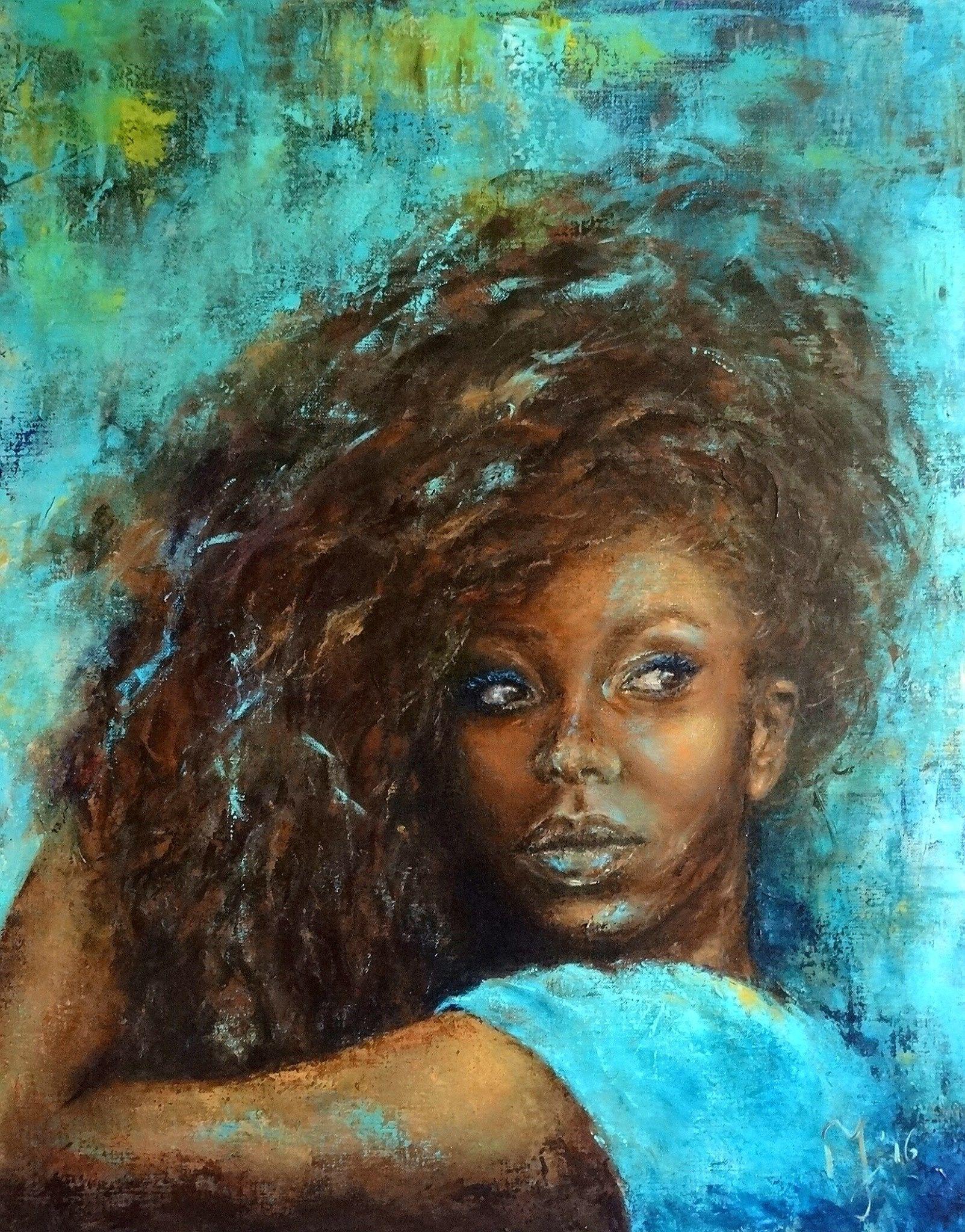 Pin By Felechia Slater On Black Art Pinterest Art Portrait And Black Women Art