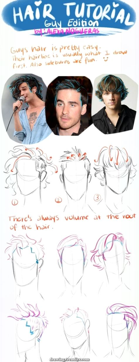 Magical New Style Drawing Tutorial Sketch Hair Reference Concepts Drawing Hair Tutorial Cartoon Hair How To Draw Hair