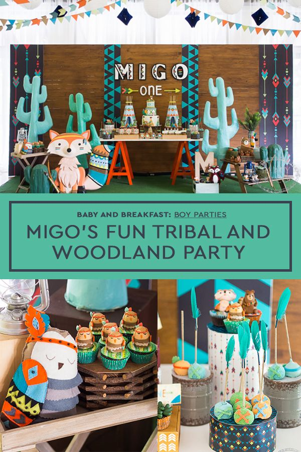 Migo S Fun Tribal And Woodland Party Will Brighten Your Day Baby