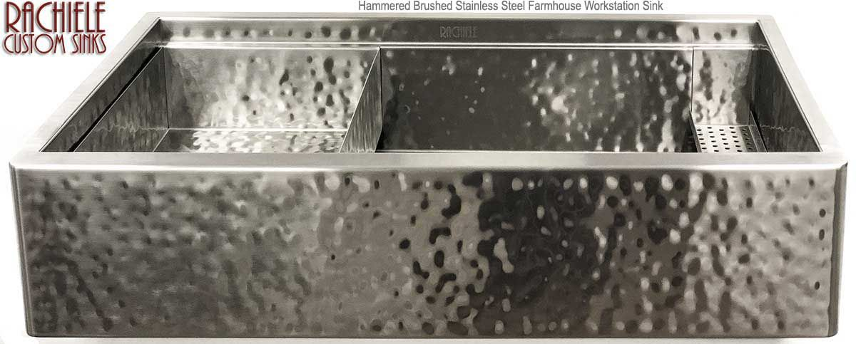 stainless steel farmhouse sink