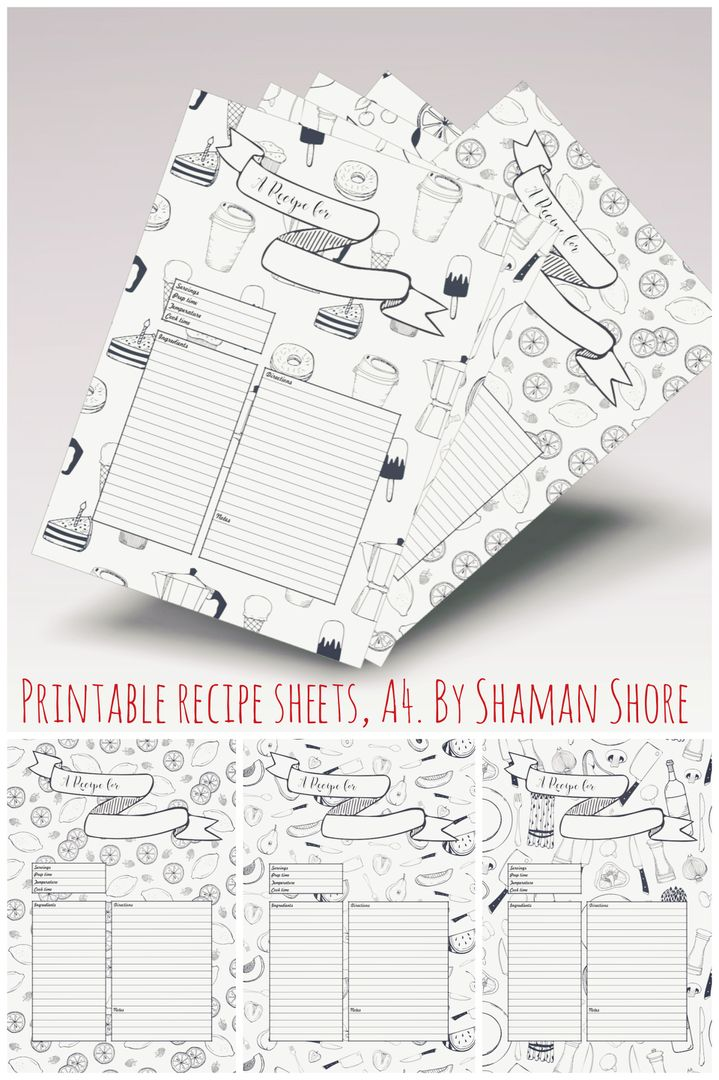 A Recipe Card Template  Fun Recipe Template  X   Printable