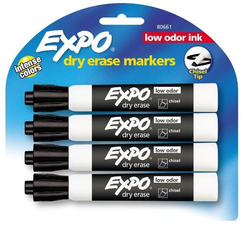 Expo Low Odor Chisel Tip Dry Erase Markers 4 Black Markers 80661 Expo Http Www Amazon Com Dp B0019debs4 Ref Cm Sw Dry Erase Markers Expo Marker Dry Erase