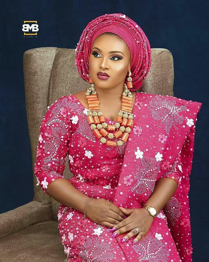 Pink and gorgeous Asooke @bolsy_asooke Makeup @beautywise_bola ...