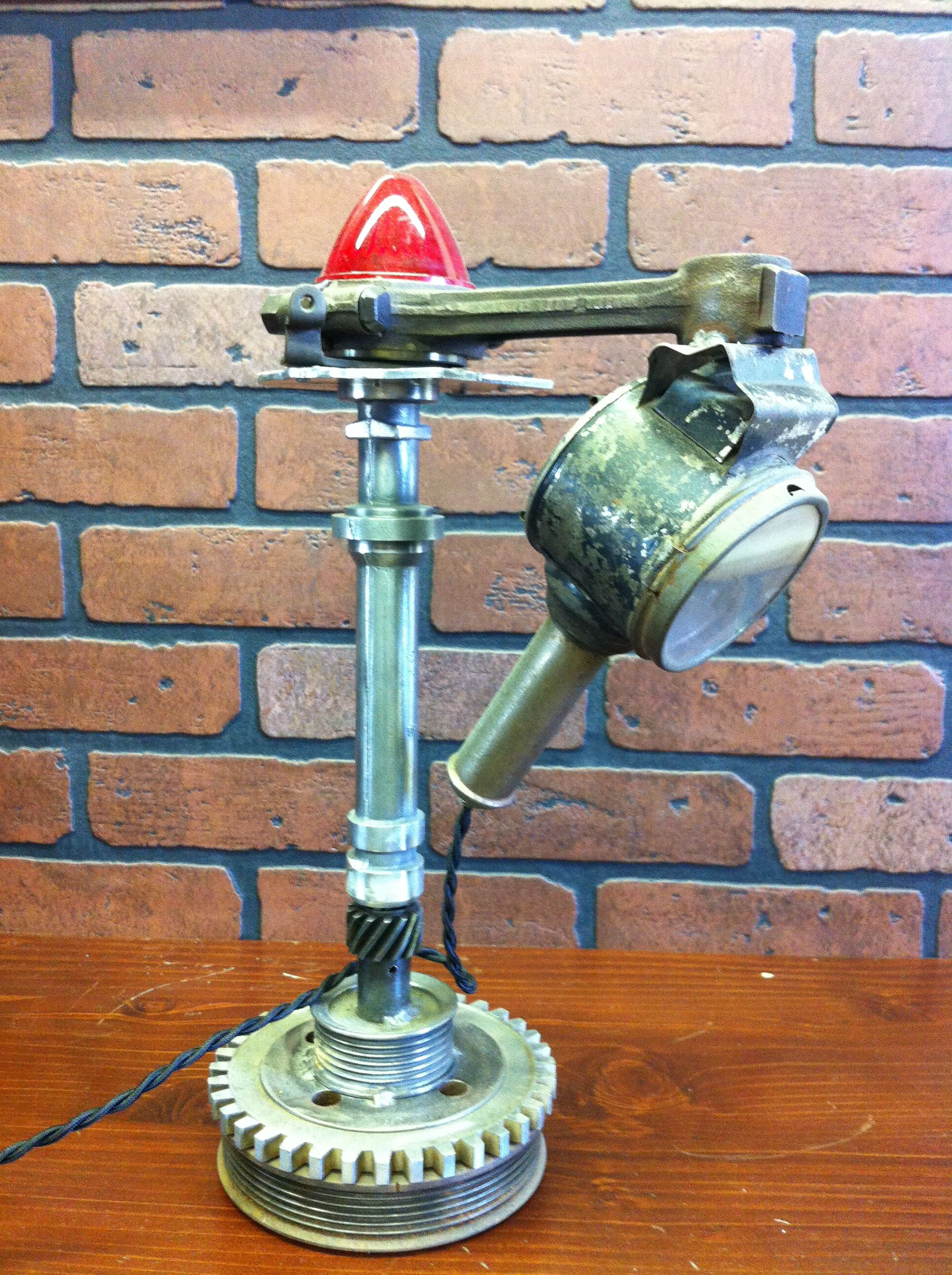 antique vtg upcycled light machine distributor via steampunk ebay age desk industrial lamp pin