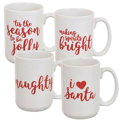 Bulk Holiday-Themed Novelty Stoneware Coffee Mugs at ...