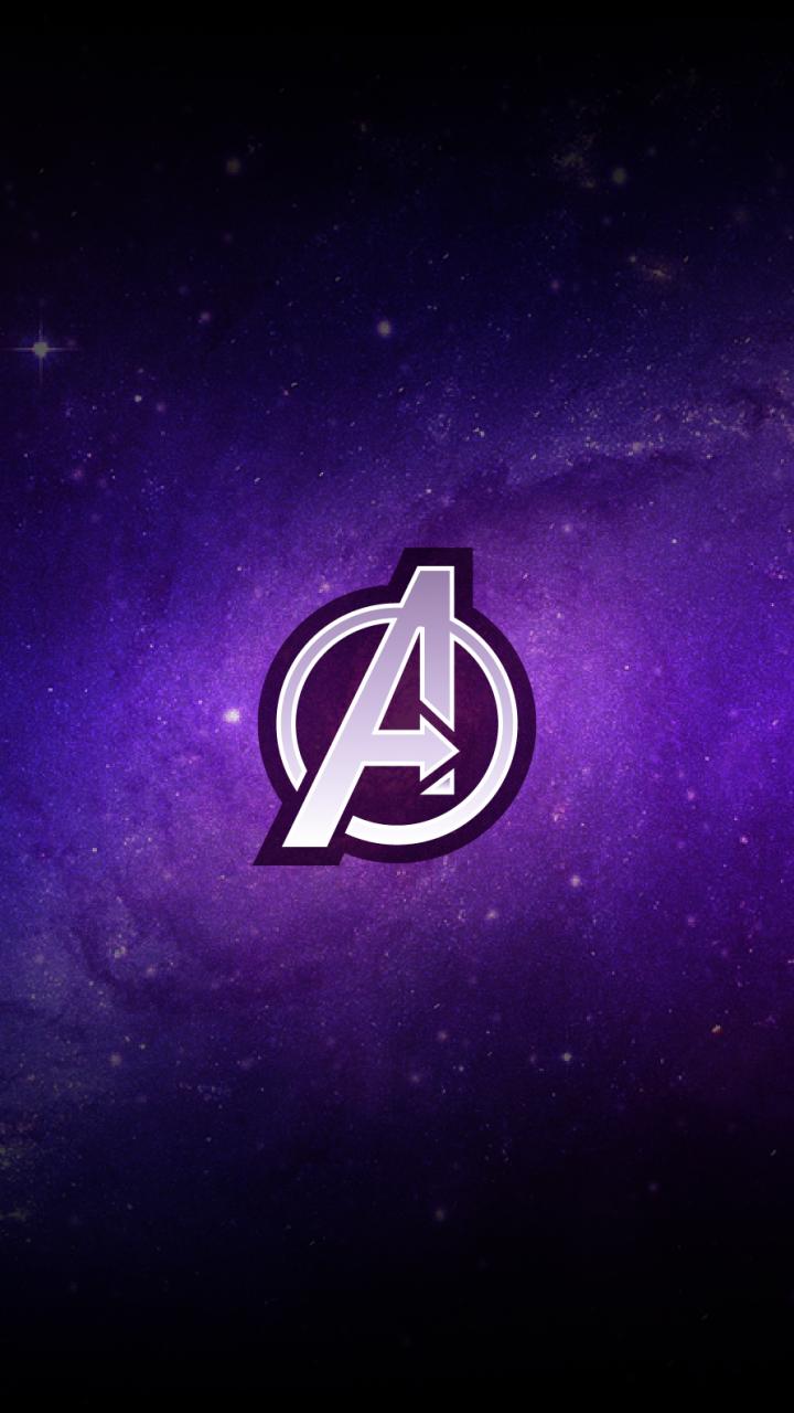 720x1280 Avengers Logo Purple Minimal Wallpaper Minimal