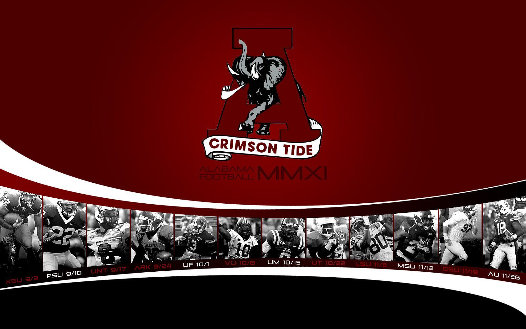 Alabama Football Screensaver And Wallpaper Alabama Football Pictures Alabama Crimson Tide Logo Football Pictures