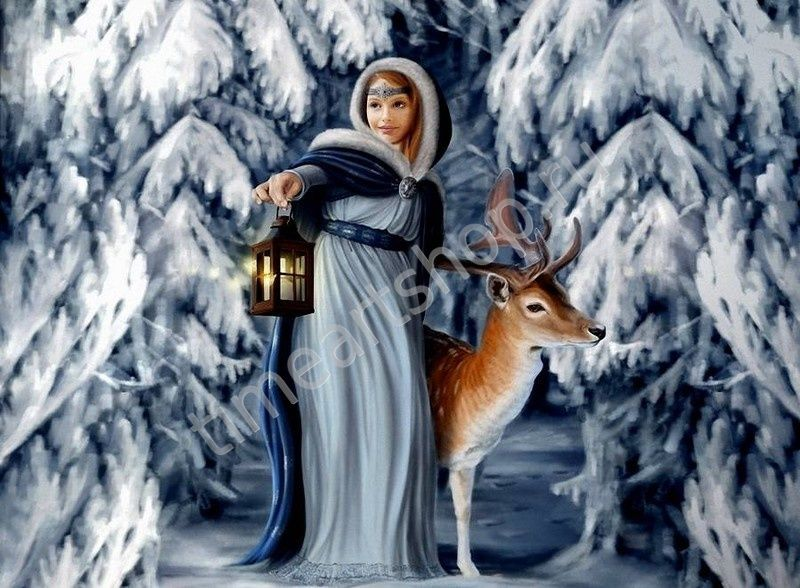 Снегурочка,750 руб. картина раскраска по номерам, размер ...
