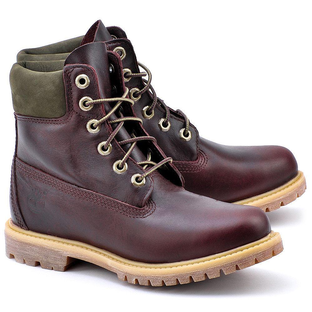 Timberland 6 In Premium Ftb Sliwkowe Skorzane Trapery Damskie 8230a Boots Timberland Shoes