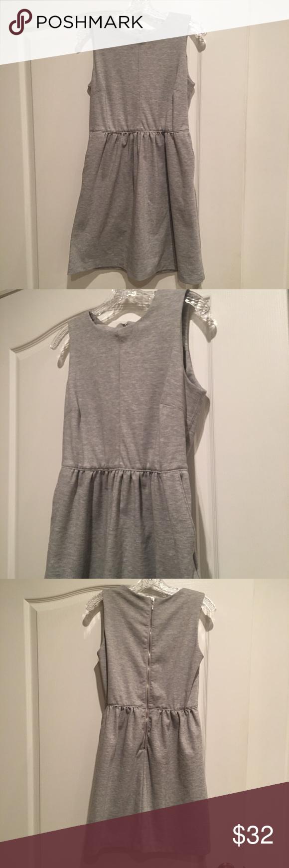 Paraphrase Grey A Line Dres With Pocket Clothe Design Dresse Dress