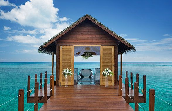 9 Overwater Bungalows Open At Sandals Grande St Lucian: Sandals South Coast Over Water Wedding Chapel