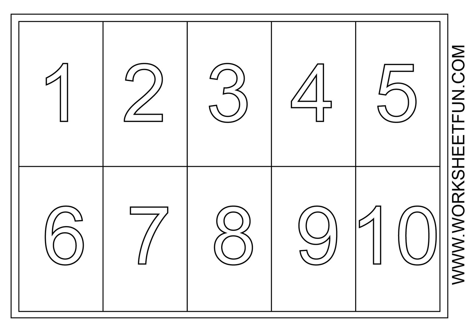 Printable Coloring Numbers 1 10 Printable Pinterest Coloring Numbers 1 10