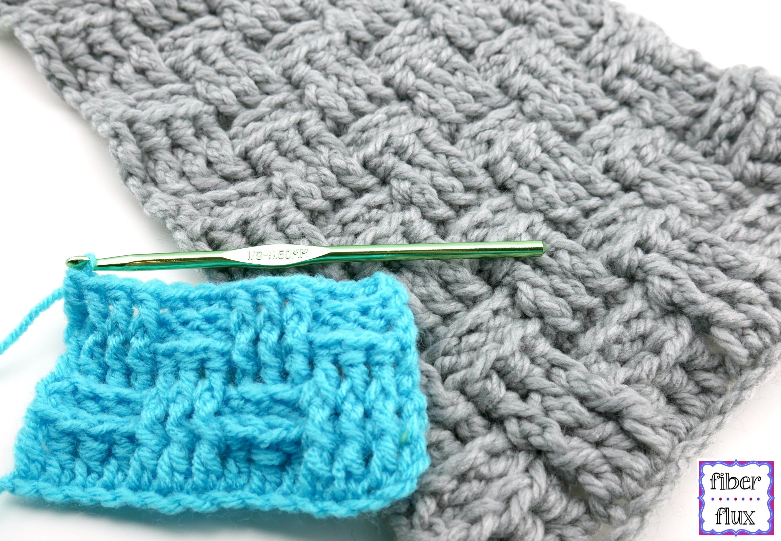 How To Crochet the Basketweave Stitch, Episode 306 | Crochet ...