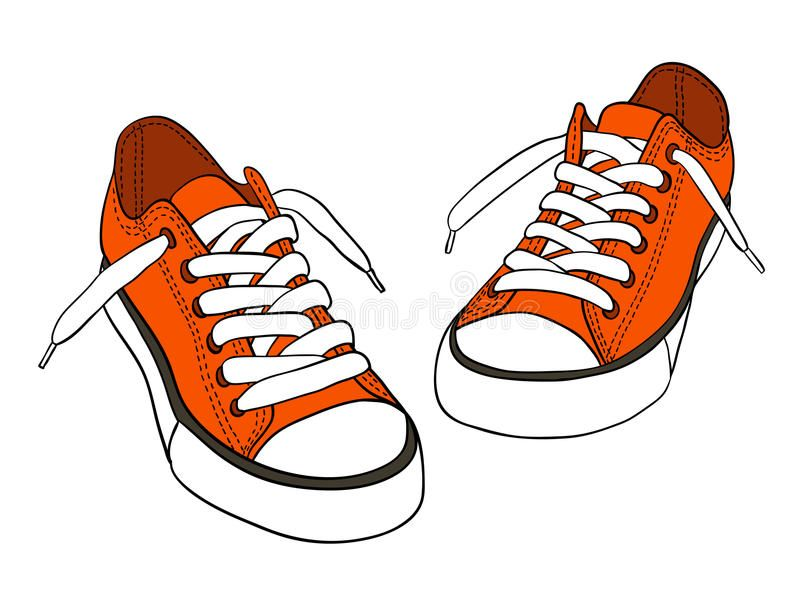 Sneakers Orange Cartoon Sneakers Isolated On White Aff Cartoon Orange Sneakers White Isolated Ad Sneakers Drawing Sneakers Sneaker Art