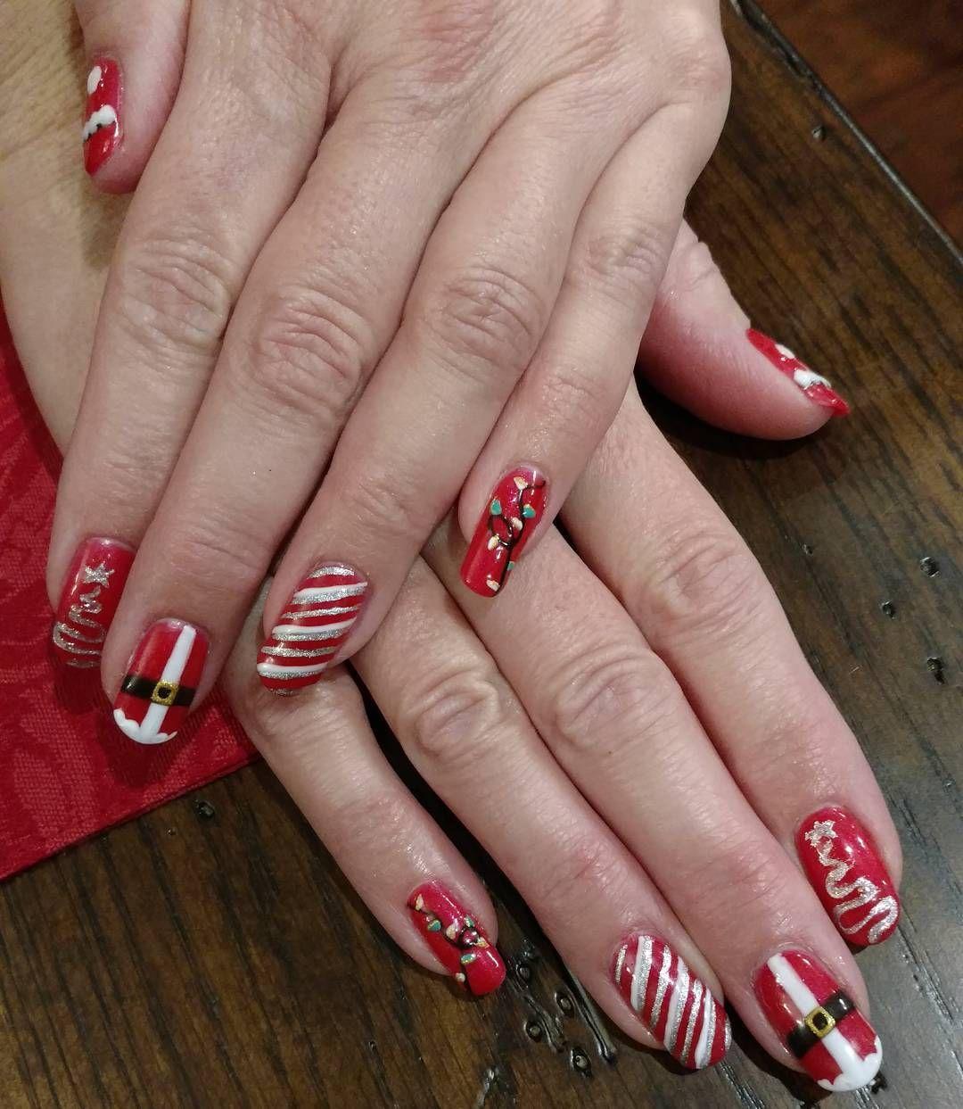 Christmas #sister #holiday #gelsculpture #3dnailart #gelmani ...