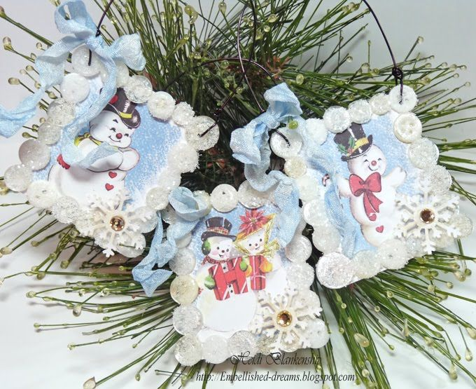 Vintage Christmas Decorations You Can Buy In Bulk Glued Around Images From Our Ch Christmas Card Ornaments Christmas Ornament Crafts Christmas Ornaments