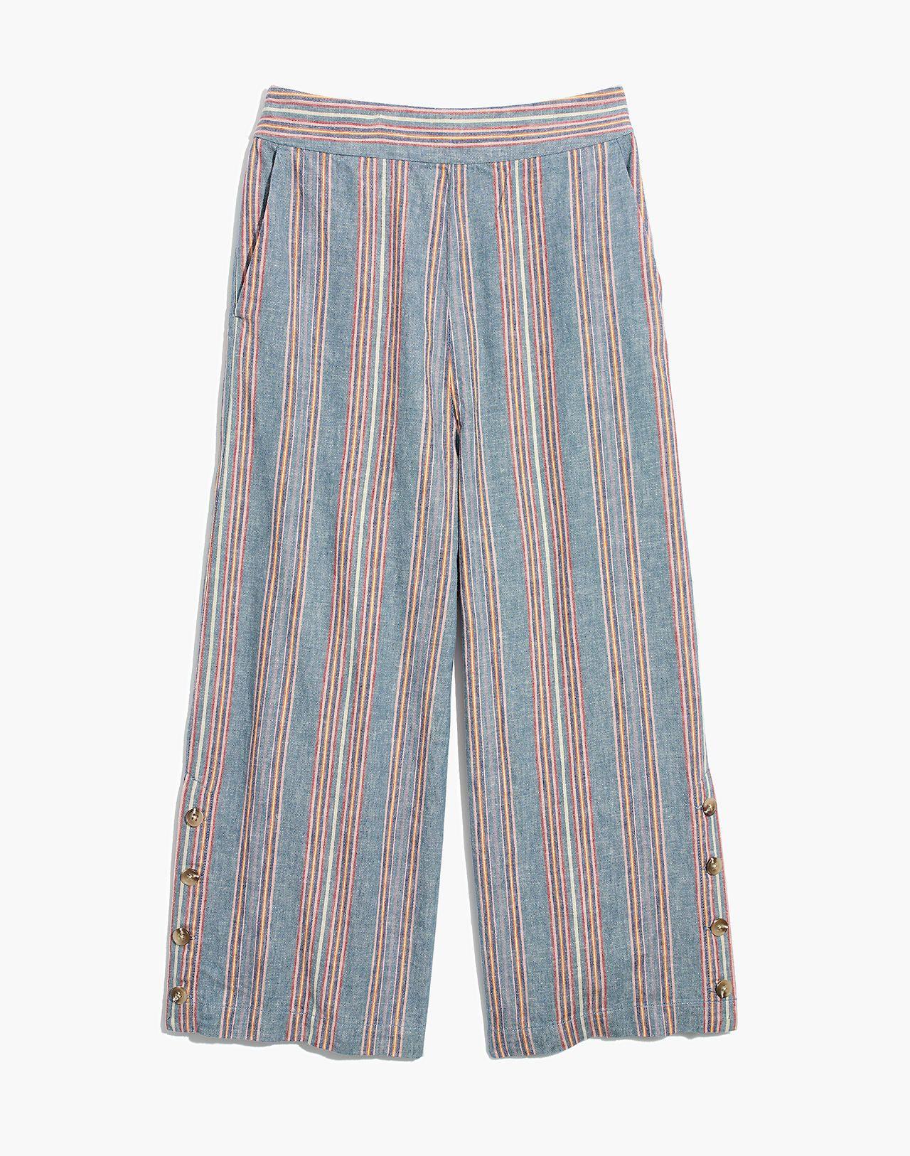 0de8820a9d5 Side-Button Huston Pull-On Crop Pants in Rainbow Stripe in 2019 ...