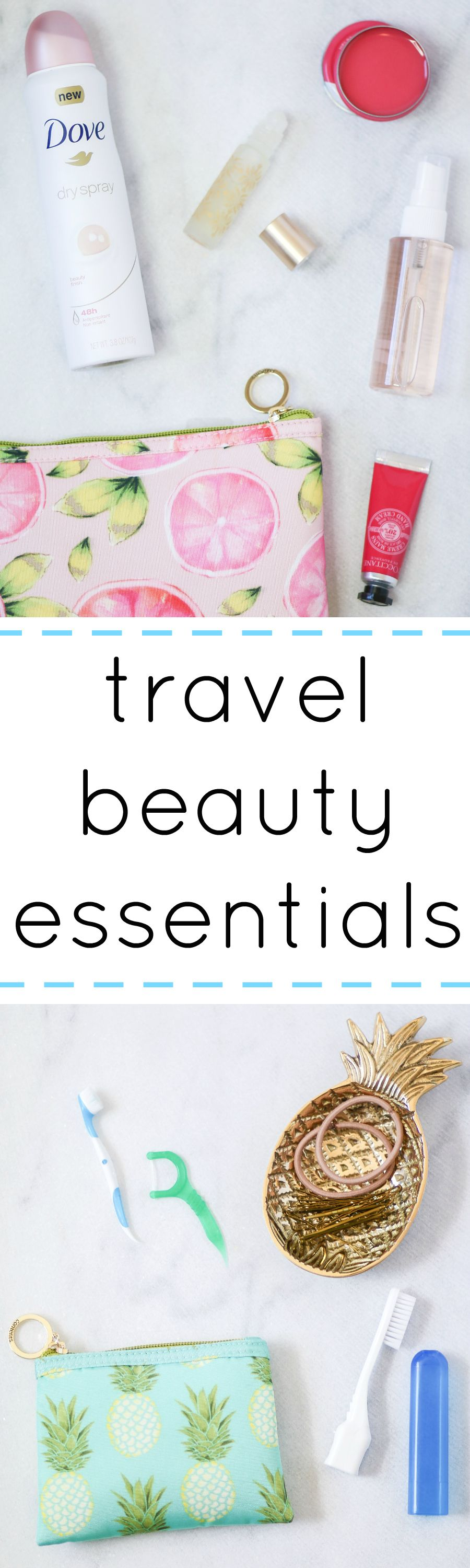 After a long flight, I look like a hot mess. Thankfully, there are a few fantastic travel beauty products that help me refresh my look in no time! Click through to see all of my travel beauty essentials including the @dove dry sprays! Thanks to Lunchbox for sponsoring this post! #beautyessentials