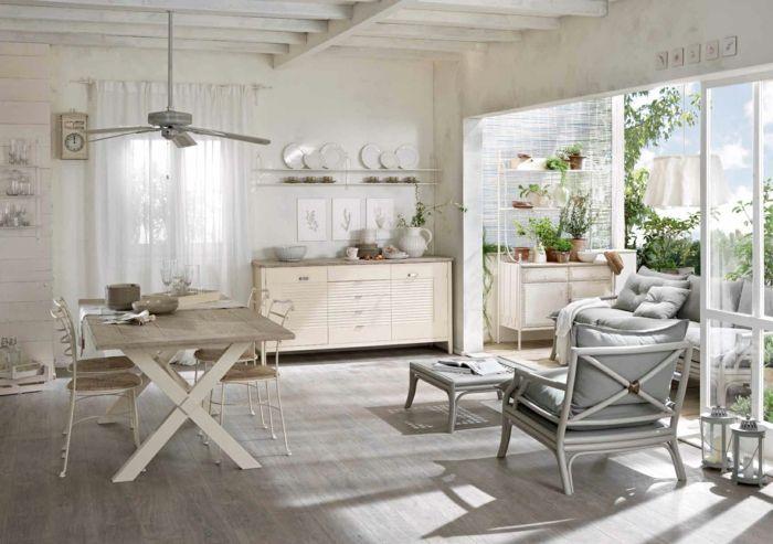 shabby chic möbel anrichte antike möbel küche esszimmer einrichtung - küche mit esszimmer