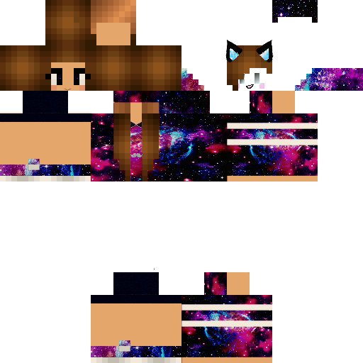 Kawaii Galaxy Girl Nova Skin Minecraft Girl Skins