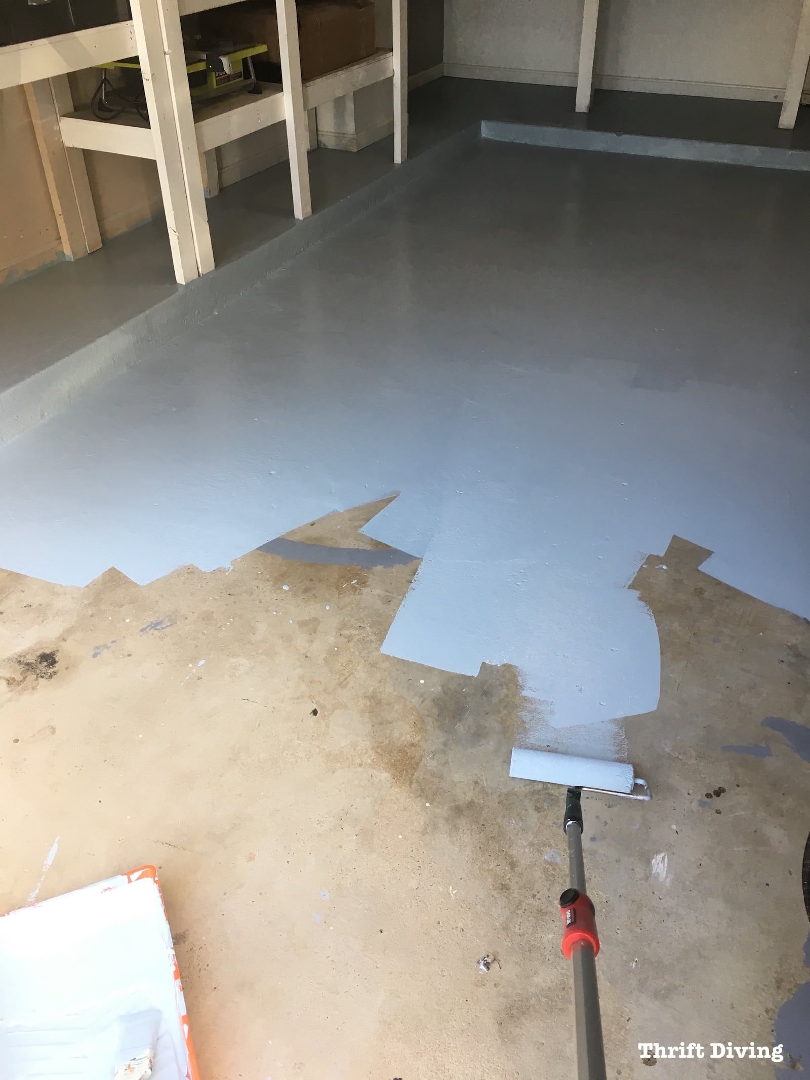 How To Paint Garage Floors With 1 Part Epoxy Paint Garage Floor Paint Garage Decor Painted Garage Walls