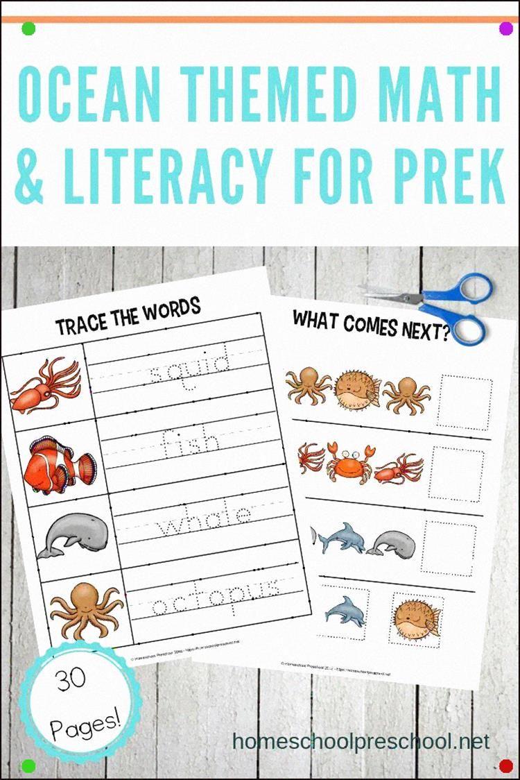 Free Ocean Worksheets For Preschool These Printables Focus On Colors Alphabet And Math With A Fun Oc Ocean Theme Preschool Preschool Lessons Summer Preschool [ 1124 x 750 Pixel ]