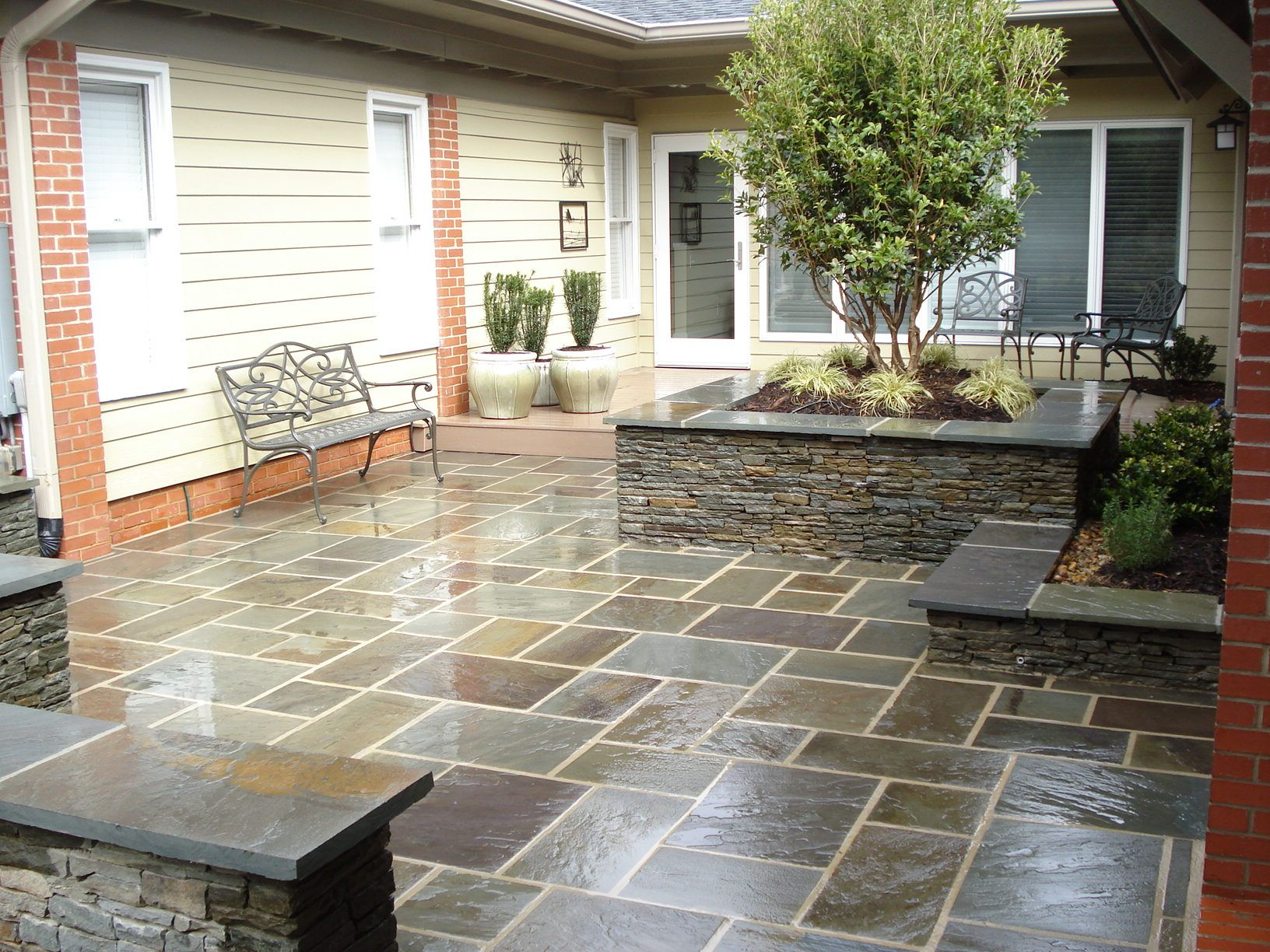 Pin By Jamie Hoverman On Landscape Bluestone Patio