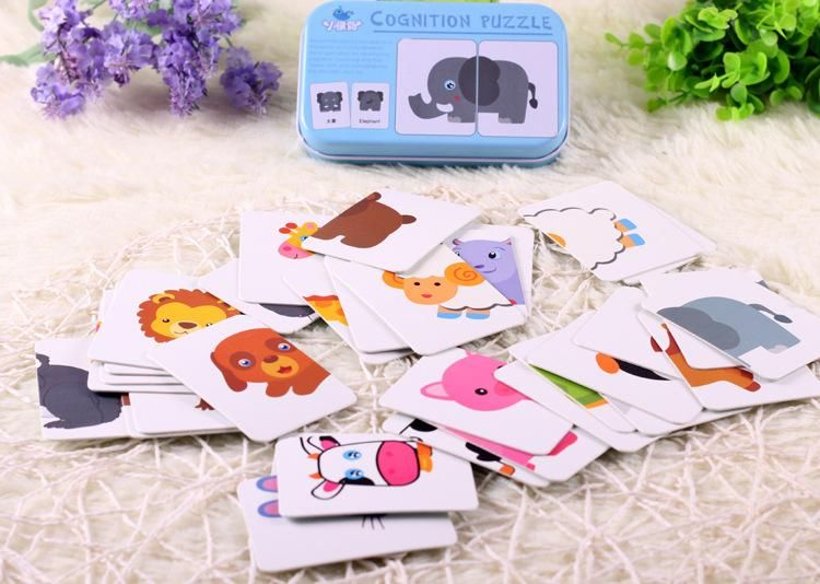Home Baby Toys Infant Early Head Start Training Puzzle Cognitive Card Vehicl/fruit/animal/life Set Pair Puzzle For Baby Gift