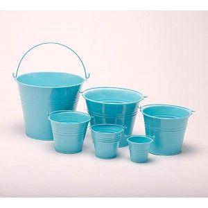 duck egg blue galvanised metal bucket planter pot b9019 metal tin