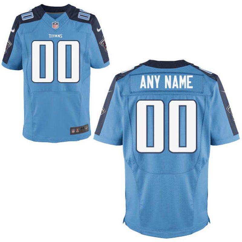9d19113c8f3 Tennessee Titans Nike Custom Alternate Elite Jersey - Light Blue ...