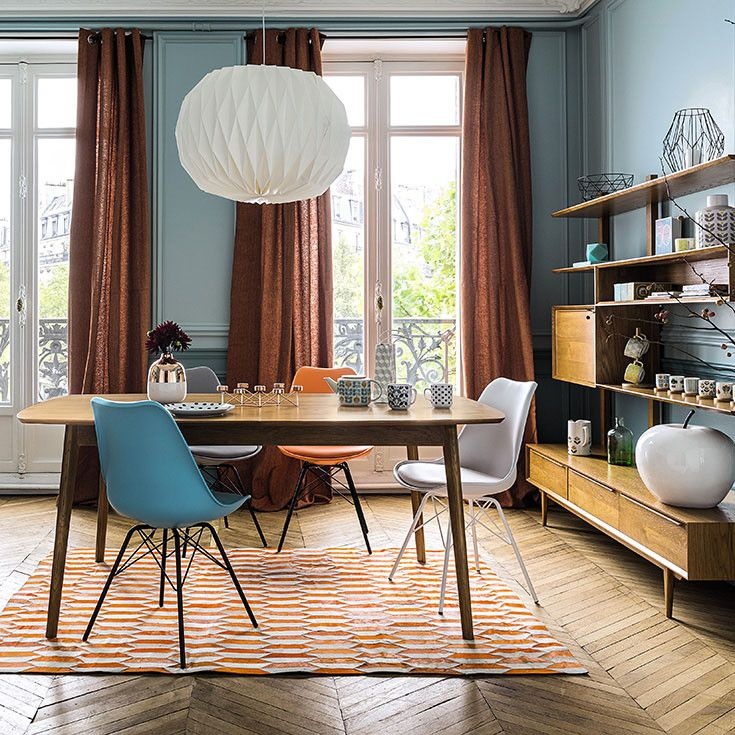 herbstliche t ne gem tliches esszimmer in braun orange und wei herbst esszimmer. Black Bedroom Furniture Sets. Home Design Ideas