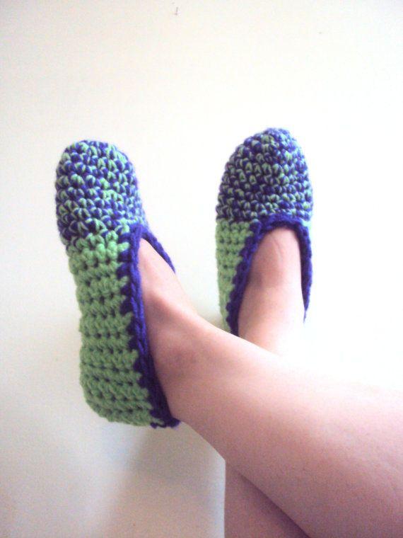 Chunky Slippers For Men or Women Crochet Slippers by GrahamsBazaar