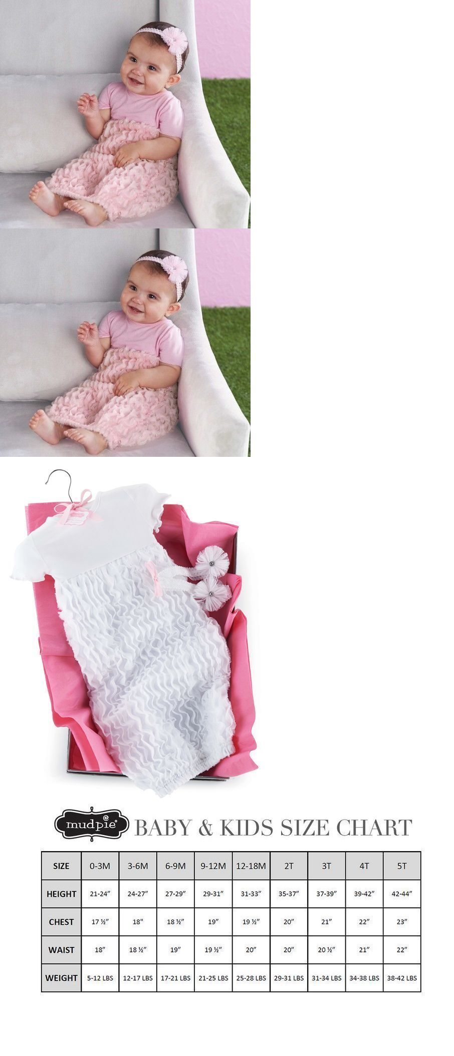 One-Pieces 57847: Mud Pie Baby Girls 3-6 Month 2Pc Bow And Pink ...