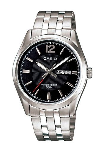 Casio Reloj Collection de Cuarzo de Acero - Plateado y Negro c2c7ef8703d7