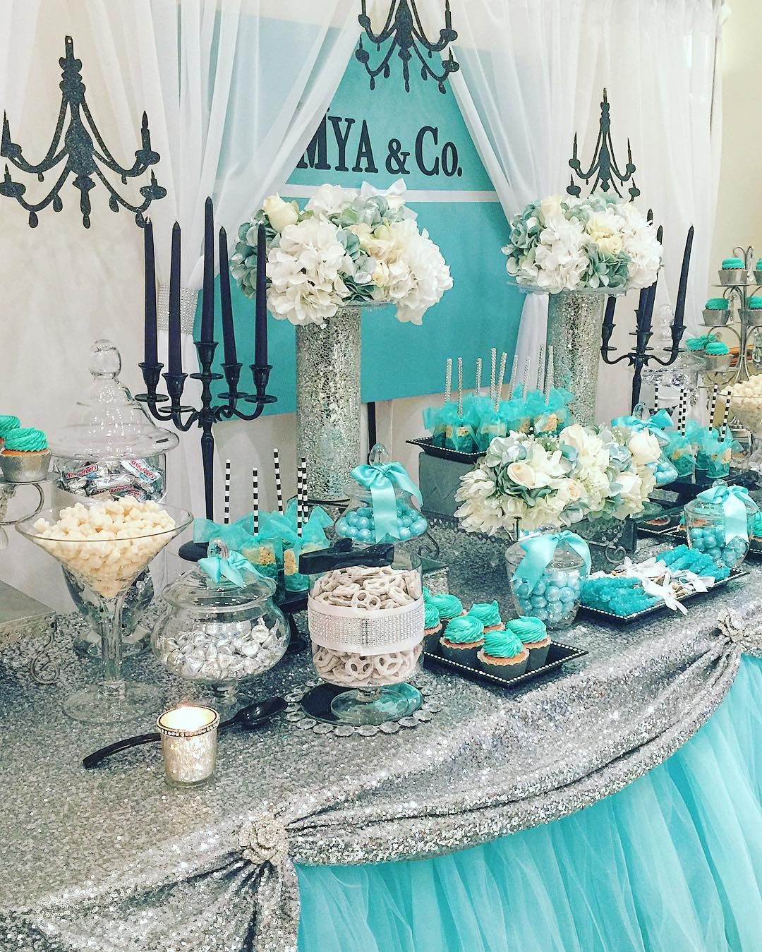 Tiffany Blue Wedding Decoration Ideas: Pin By Monica Sellers On Bridal Shower In 2019