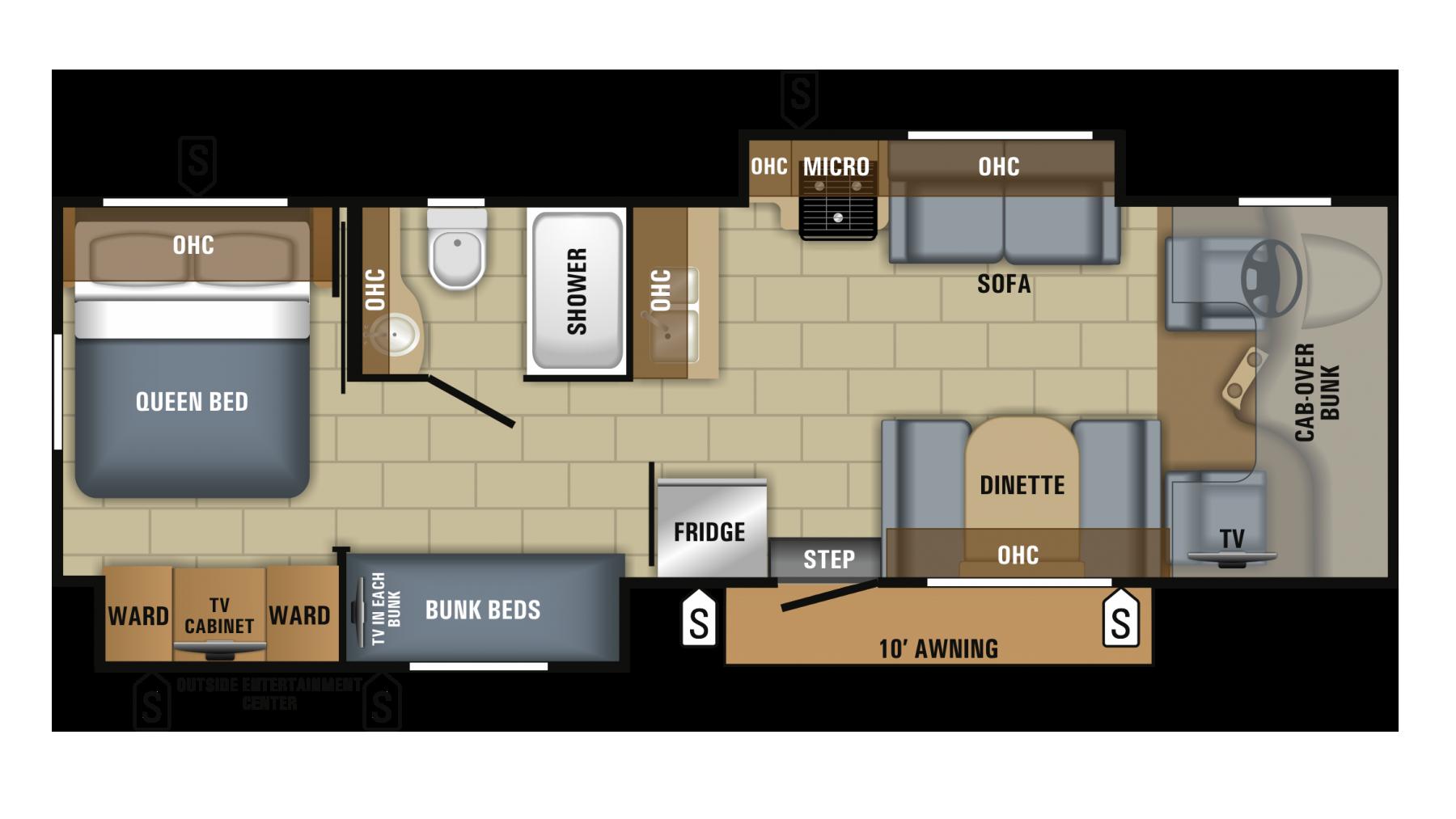 Jayco Greyhawk Prestige 31fsp Class C Motorhome Floor Plans Class C Rv Floor Plans
