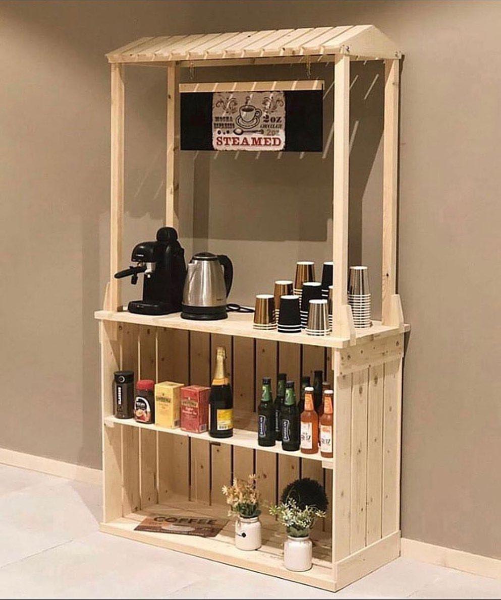 غاردينيا للتحف On Instagram لعشاق القهوة ركن قهوة خشب طبيعي السعر 650 ريال السعر لايشمل التجهيزات الارتفاع 177 سم Home Decor Liquor Cabinet Decor