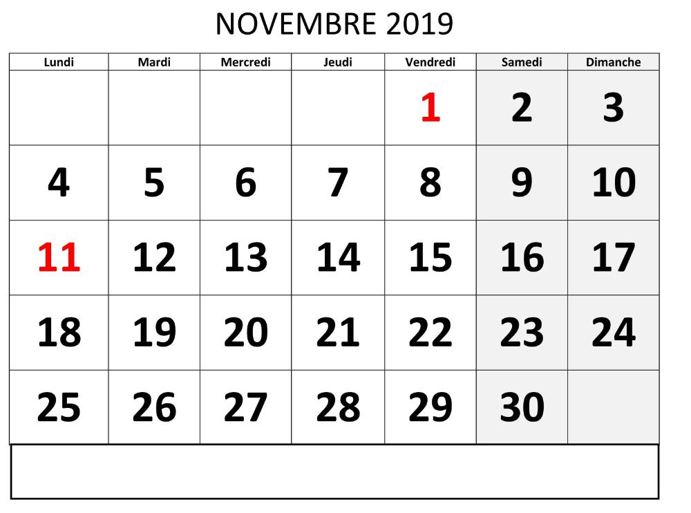 Calendrier 2019 Png.Editable Novembre Calendrier 2019 Computer Keyboard
