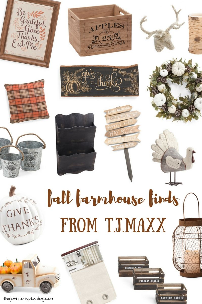 Fall Farmhouse Finds from T.J.Maxx #autumnseason