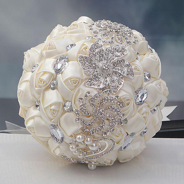 Luxury Gorgeous Wedding Bridal Bouquets Elegant Pearl Bride