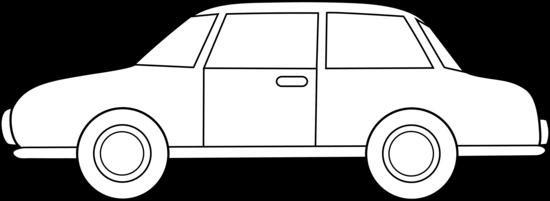 Colorable Car Line Art Free Clip Art
