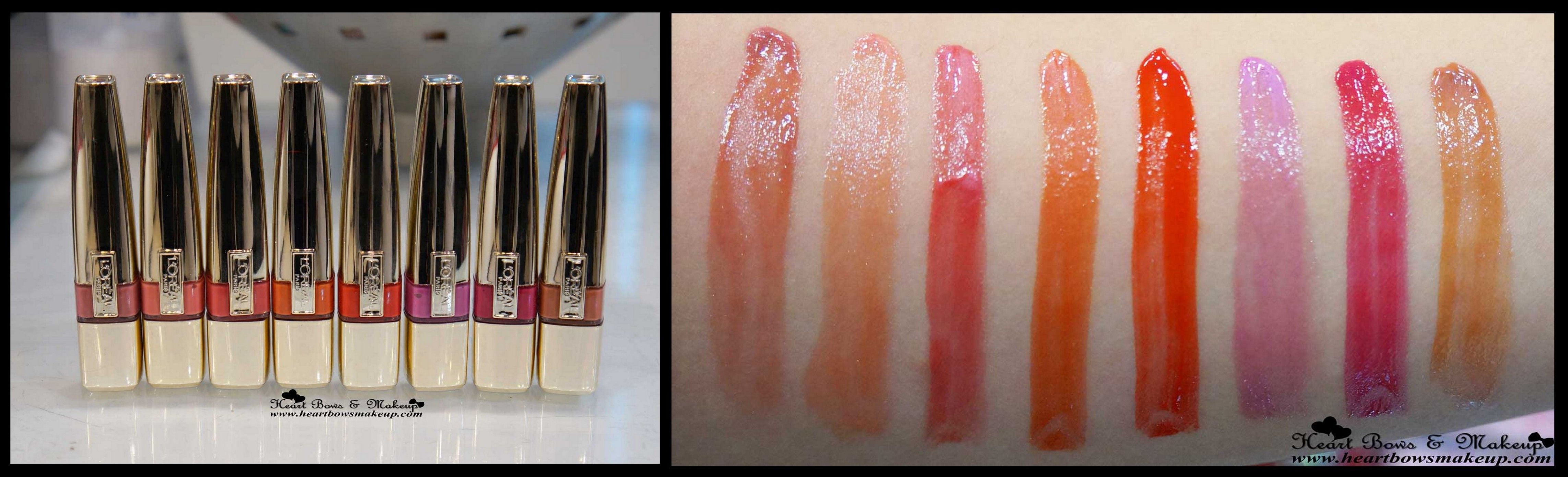 Loreal color caresse by color rich lipstick - All L Oreal Caresse Shine Lip Color Swatches All L Oreal Wet Shine