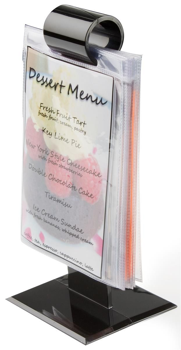 9 25 Menu Holder Flip Chart For Tabletop Use 10 Vinyl Sign Sleeves Black Menu Holders Restaurant Menu Holder Menu Restaurant