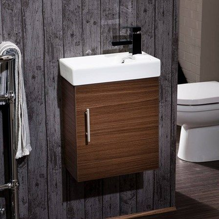 A Wall Mounted Vanity Unit Is The Ideal Way To Add Some Storage And Style To Your Cloakroom Or Compact Bath Cloakroom Vanity Unit Wall Hung Vanity Vanity Units